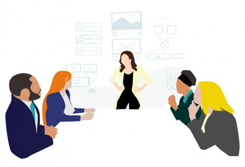 illustration service grande réunion et formation
