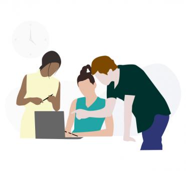 Illustration service de réunion simple
